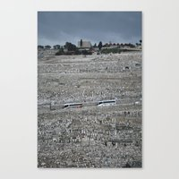palestine Canvas Prints featuring Jerusalem Palestine by Sanchez Grande