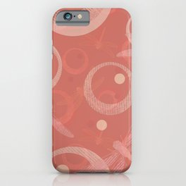 Dragonflies on the coral. iPhone Case