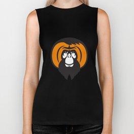 Orangutan Bearded Tussled Hair Retro Biker Tank