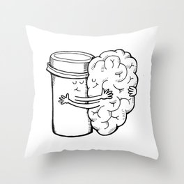 Coffee: When Your Brain Needs a Hug Throw Pillow