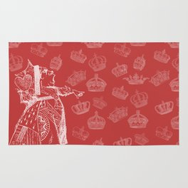 Queen of Hearts and Crowns Rug
