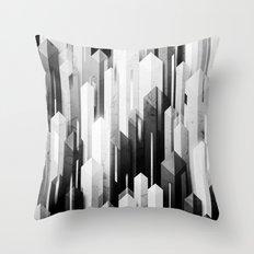 obelisk posture 3 (monochrome series) Throw Pillow
