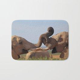 Two Elephants Bath Mat