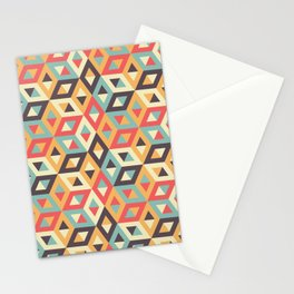 Pastel Geometric Pattern Stationery Cards