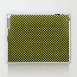 Houndstooth Black & Poison Green small Laptop & iPad Skin