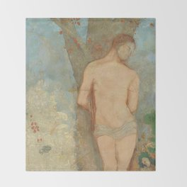 Odilon Redon - Saint Sebastian Throw Blanket