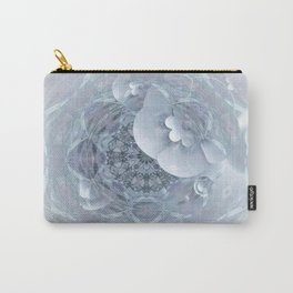 Goth Transparent Romantic FLoral Ghost Mandala Carry-All Pouch