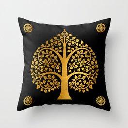 Bodhi Tree0110 Throw Pillow