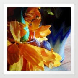 Flor de cempasúchil Art Print