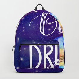 Space Neon Watercolor #11: Dream big Backpack