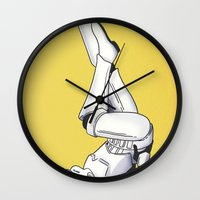 pinup Wall Clocks featuring Trooper Pinup by DVOART