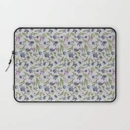 Falling flowers: purple Laptop Sleeve