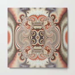 Abstract art with tribal patterns in autumn trendy colors Metal Print