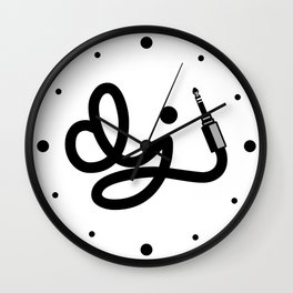 DJ Wire Music Quote Wall Clock