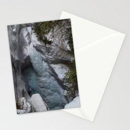 Frozen Waterfalls of Maligne Canyon Stationery Cards