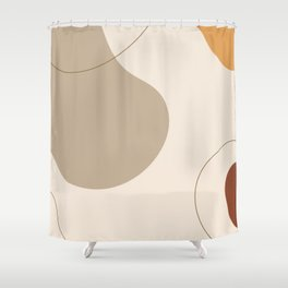 Threads of destiny - Modern abstract art Shower Curtain