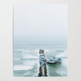 View off the Coast of Miraflores, Lima, Peru Poster