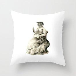 Victorian Cat Series 05 Throw Pillow