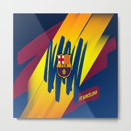 F C Barcelona : Mes Que Un Club , Visca forza Barca Metal Print