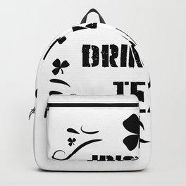 Irish Drinking Team Funny ST. Patrick Day Backpack