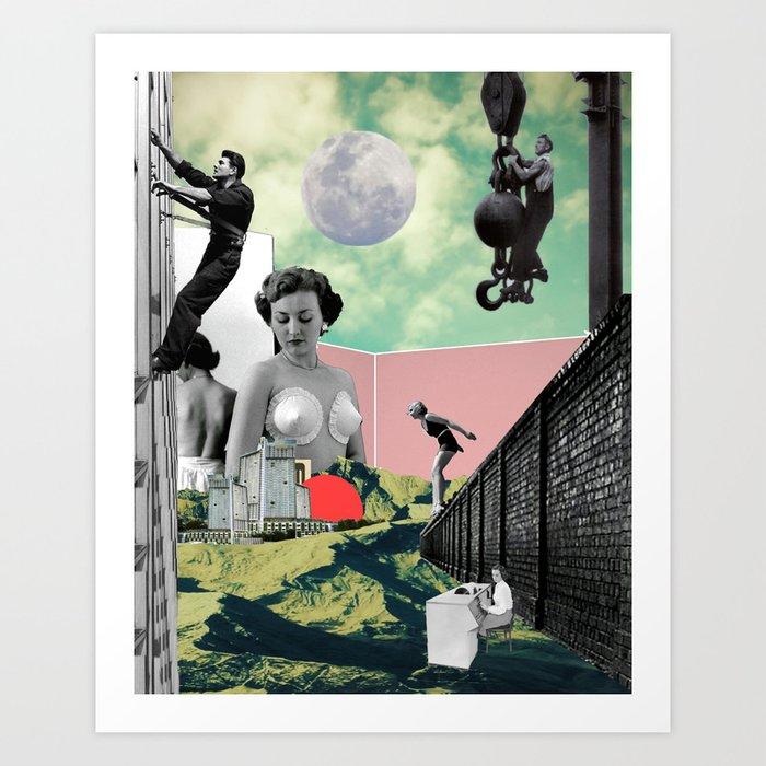 Under Consrtuction Art Print
