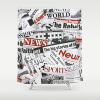 daenerys Shower Curtains featuring News Branded by bimorecreative