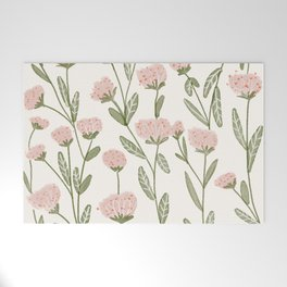 Rose Garden Pattern Welcome Mat