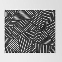 Ab Linear Zoom Black Throw Blanket