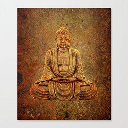 Sand Stone Sitting Buddha Canvas Print