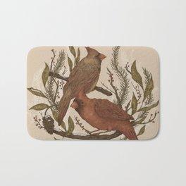 Wintery Cardinals Bath Mat