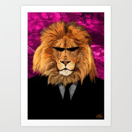 Lion Suit Art Print