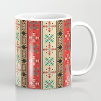 blanket Mugs featuring Sioux Blanket by Robin Curtiss