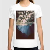mountains T-shirts featuring mountainS Dark Sunset by 2sweet4words Designs