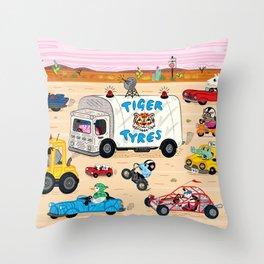 Desert Drive Throw Pillow