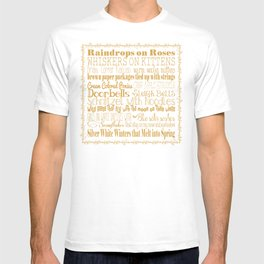 A Few of My Favorite Things - Gold T-shirt