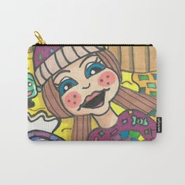 Girl in Candy Land Carry-All Pouch