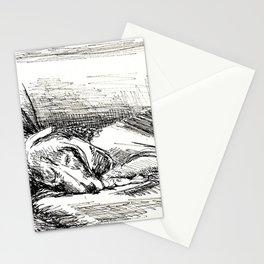 Elwood sleeping Stationery Cards