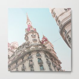 French Sky (Retro and Vintage Urban, architecture photography) Metal Print