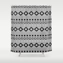 Bohemian Mudcloth Style 2 in Gray and Black by fischerfinearts