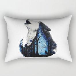 The wail of a wolf Rectangular Pillow