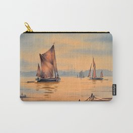 Barges On The River Thames Greenwich London Carry-All Pouch