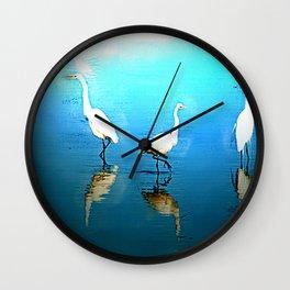 EGRET ENCOUNTER Wall Clock