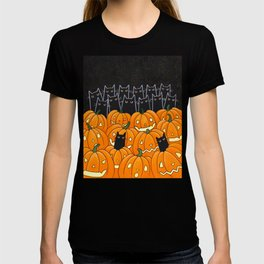 Black Cats and Jack o Lanterns T-shirt