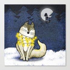 Peace under the Moon Canvas Print