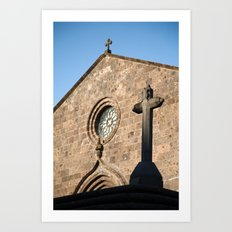 Church in Azores islands Art Print