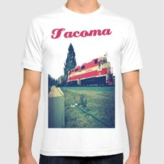 Tacoma Rail MEDIUM White Mens Fitted Tee