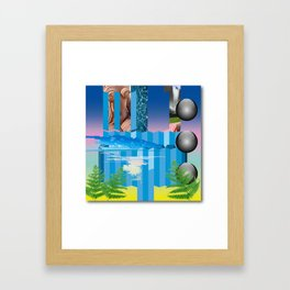 A possible path to technological enlightenment series; plate number two (for Tiago). Framed Art Print
