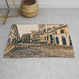 Streets of Rome, Through art and history Rug