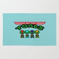 teenage mutant ninja turtles Area & Throw Rugs featuring Teenage Mutant Ninja Toads by Marvin Porcher