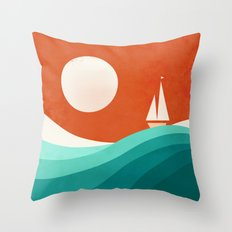 Wave (night) Throw Pillow